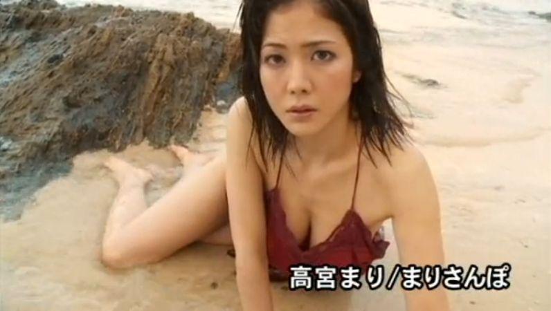 高宮まりのイメージビデオDVD「まりさんぽ」キャプチャ画像