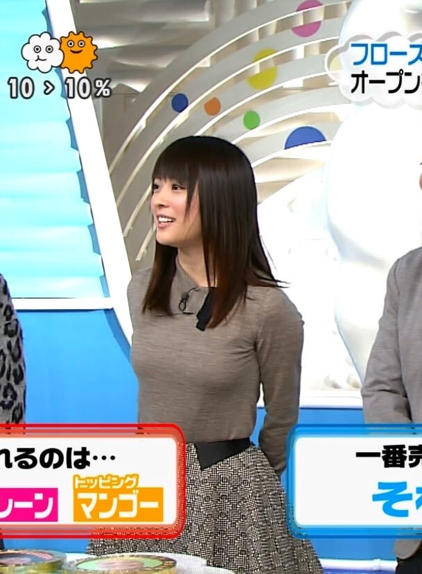 「ZIP!」に胸の形が分かる服で出演した北乃きい