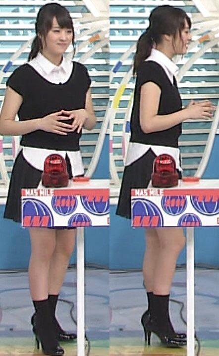 「ZIP!」でミニスカート衣装を着た北乃きい