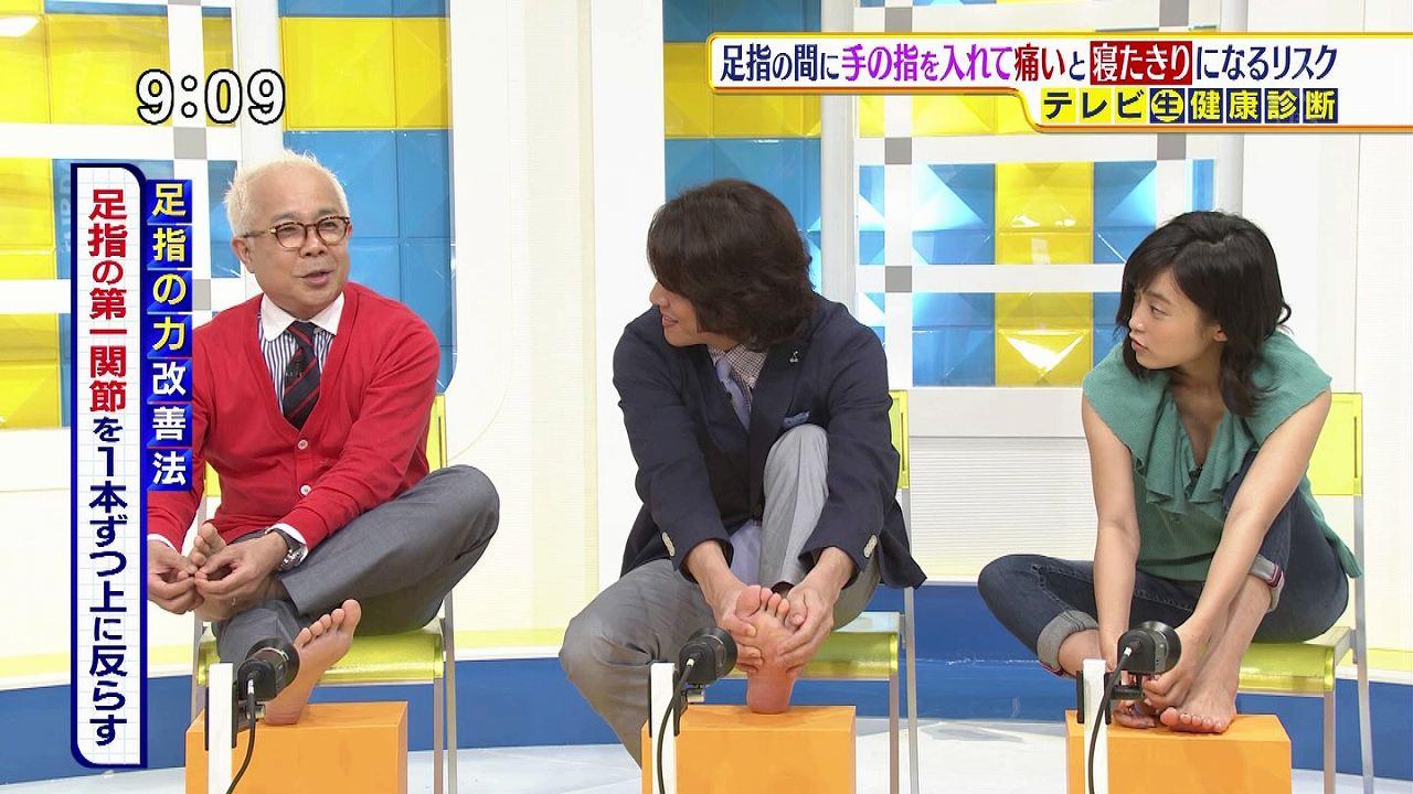TBS「サンデープラス」に胸元ユルユル衣装で出演、エクササイズでかがんでおっぱいポロリしている小島瑠璃子