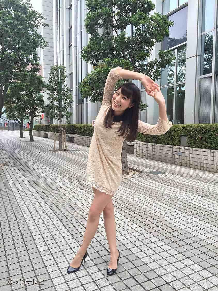 超ミニスカートワンピースを着たフジテレビ「めざましテレビ」のお天気お姉さん・阿部華也子
