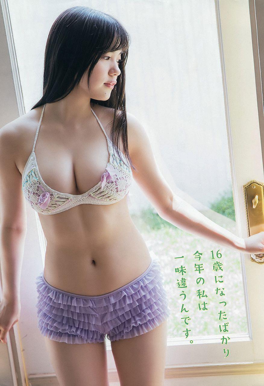 「ヤングアニマル 2016年 7/22 号」HKT48・田中優香の水着グラビア