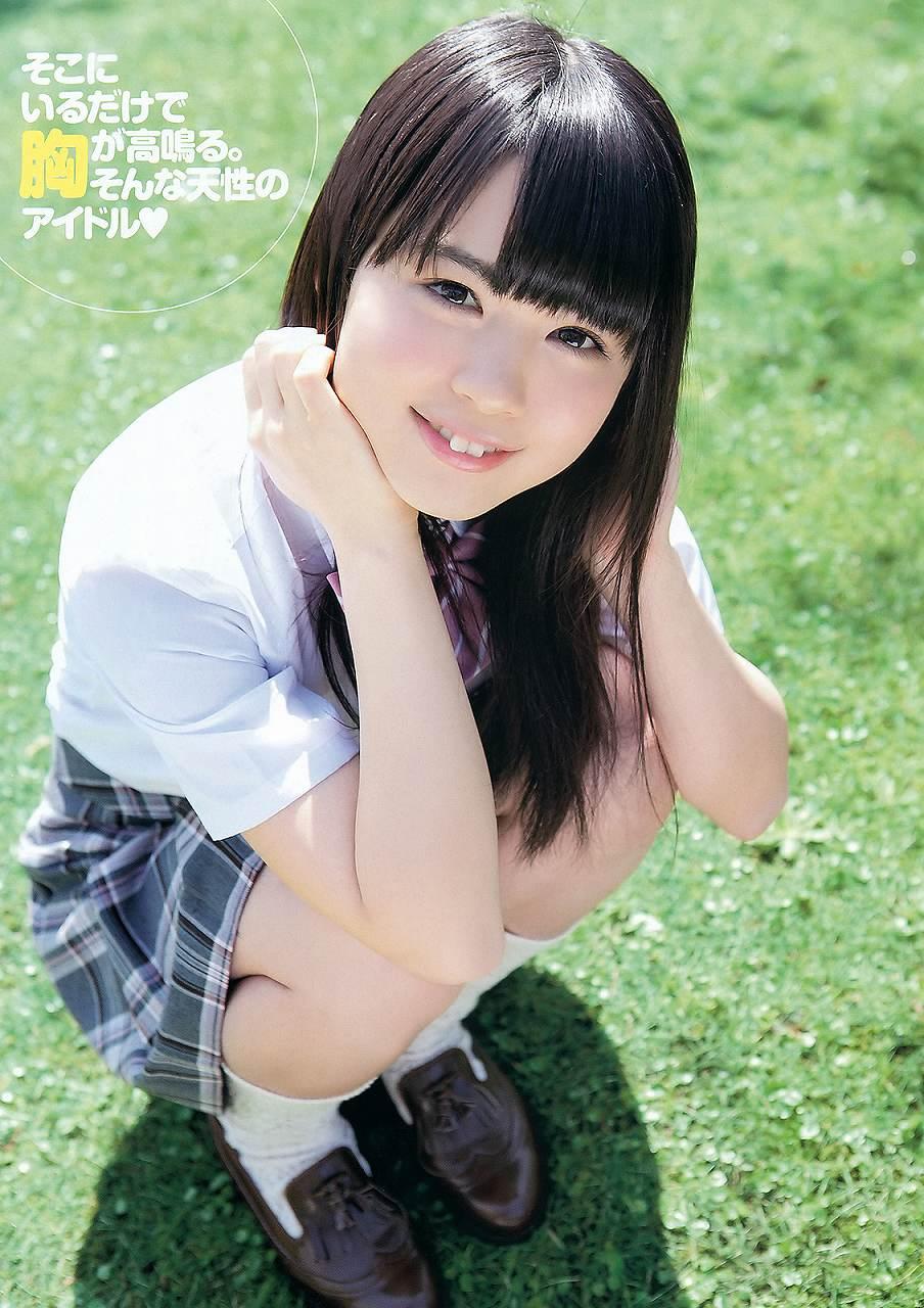 HKT48時代の菅本裕子の着衣グラビア