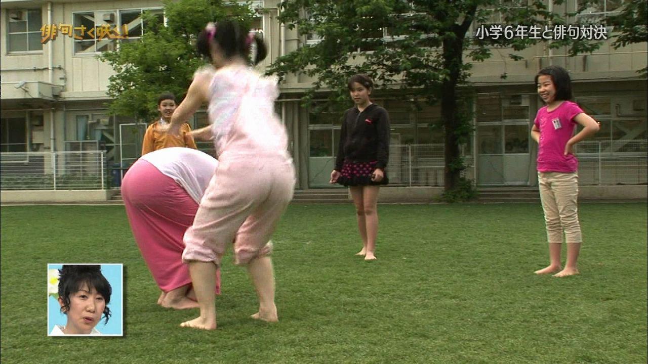 Eテレ「俳句さく咲く!」で馬跳びをした嗣永桃子のデカ尻