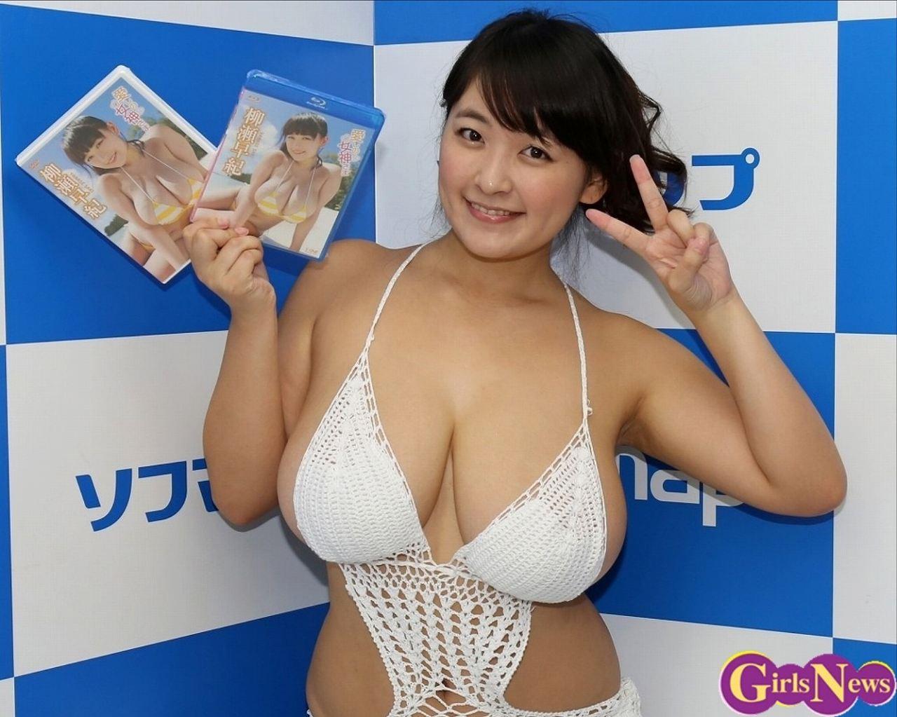 DVDの発売記念イベントでソフマップに登場した柳瀬早紀