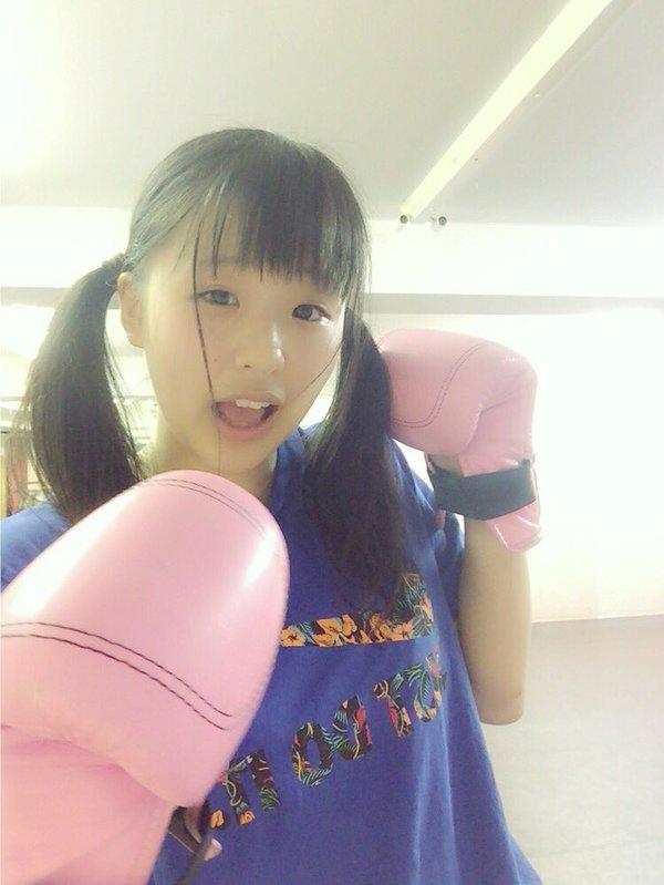 ボクシングをする太田和さくら