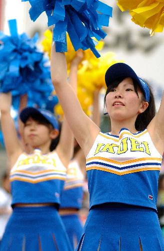 仙台育英高校のチアガール