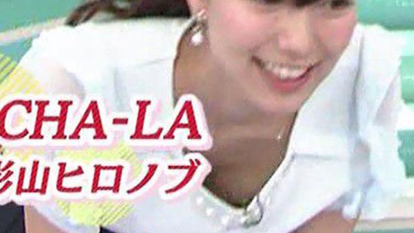 「おはようコールABC」、胸元ユルユル服でエクササイズをしておっぱいポロリしてる斎藤真美アナ