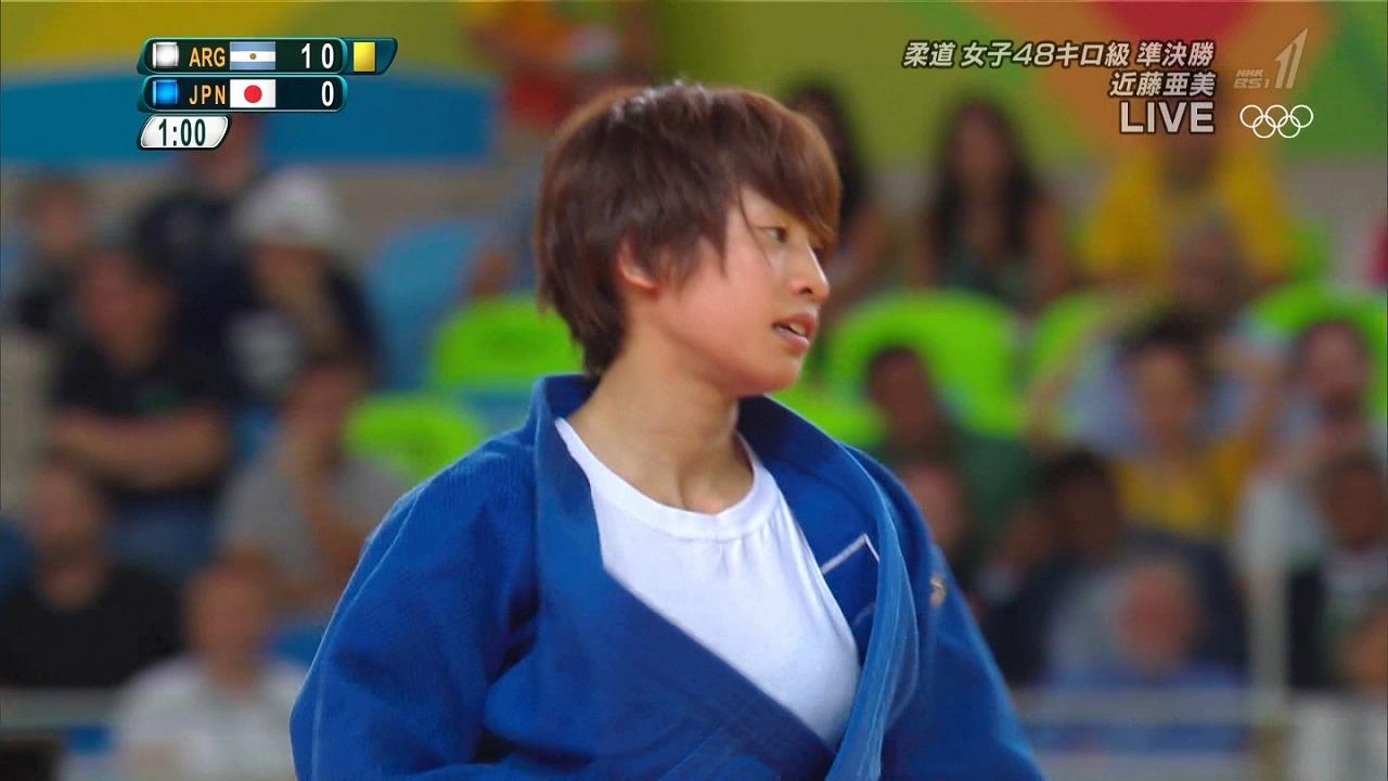 リオオリンピックで柔道着を着た近藤亜美選手