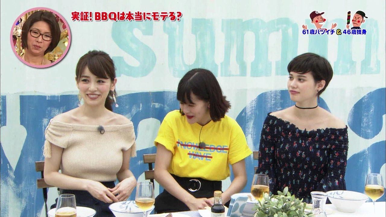 「さんま&岡村祭り・オトコってバカね!SP」でニットを着た泉里香の着衣巨乳