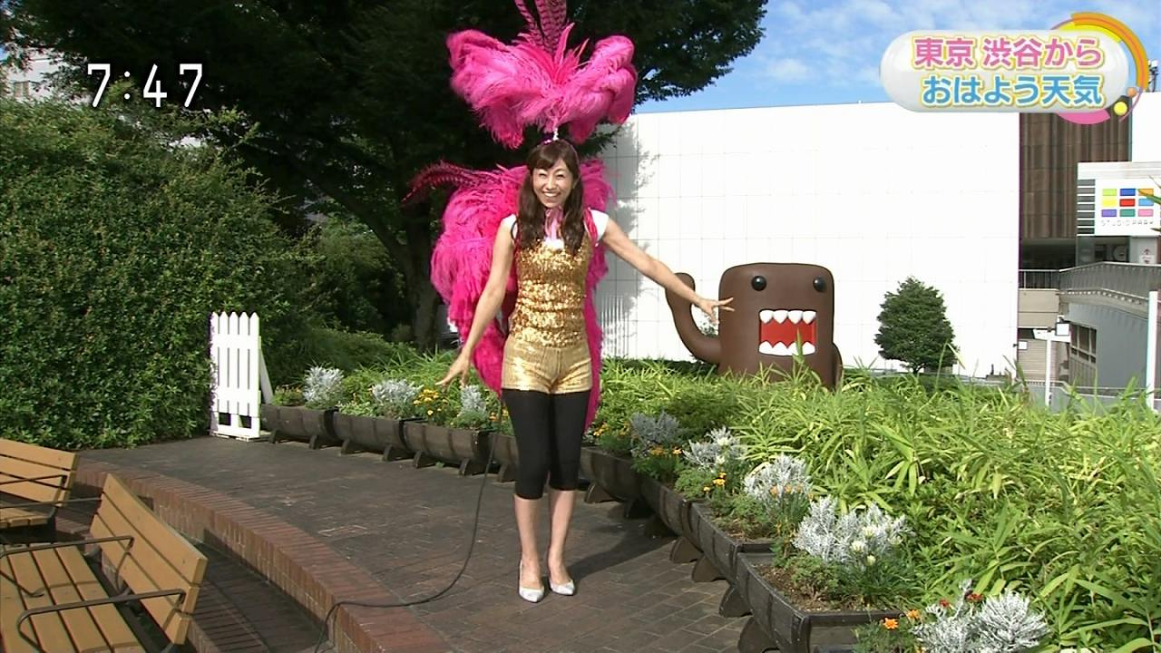 「NHKニュースおはよう日本」で体のライン丸出しのサンバ衣装を着たお天気お姉さんの酒井千佳