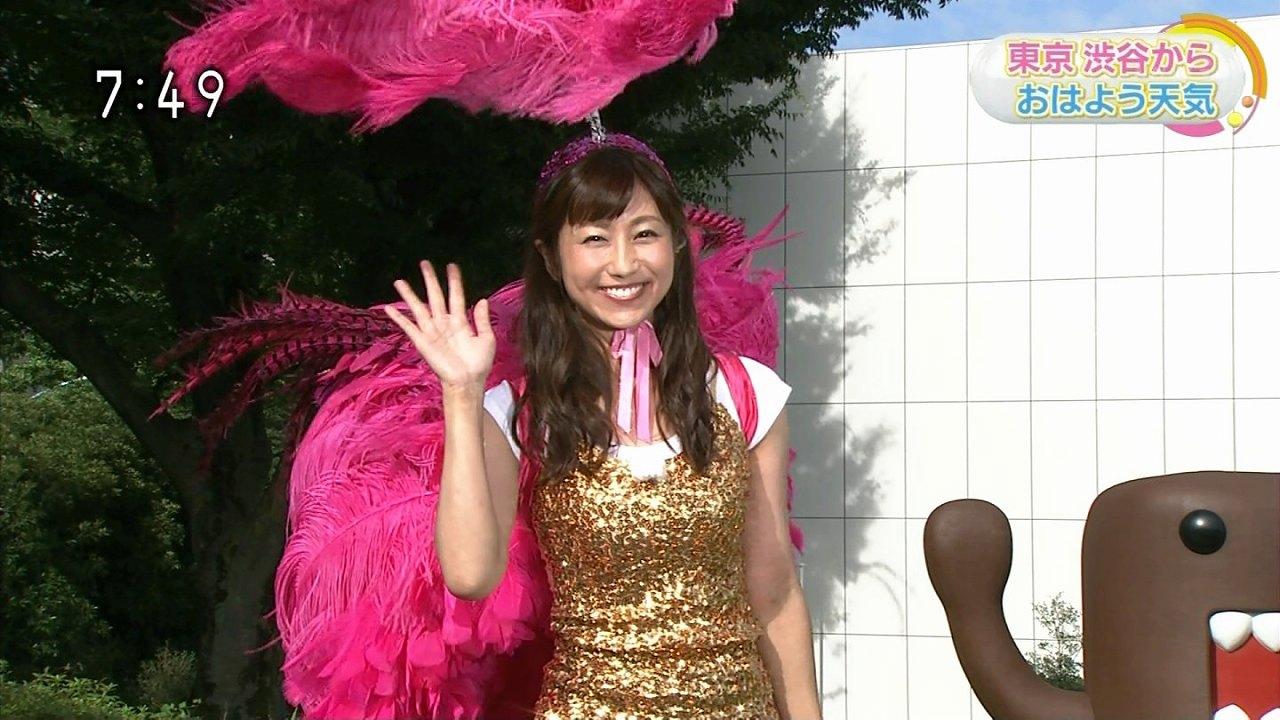 「NHKニュースおはよう日本」で体のライン丸出しのサンバ衣装を着た気象予報士の酒井千佳