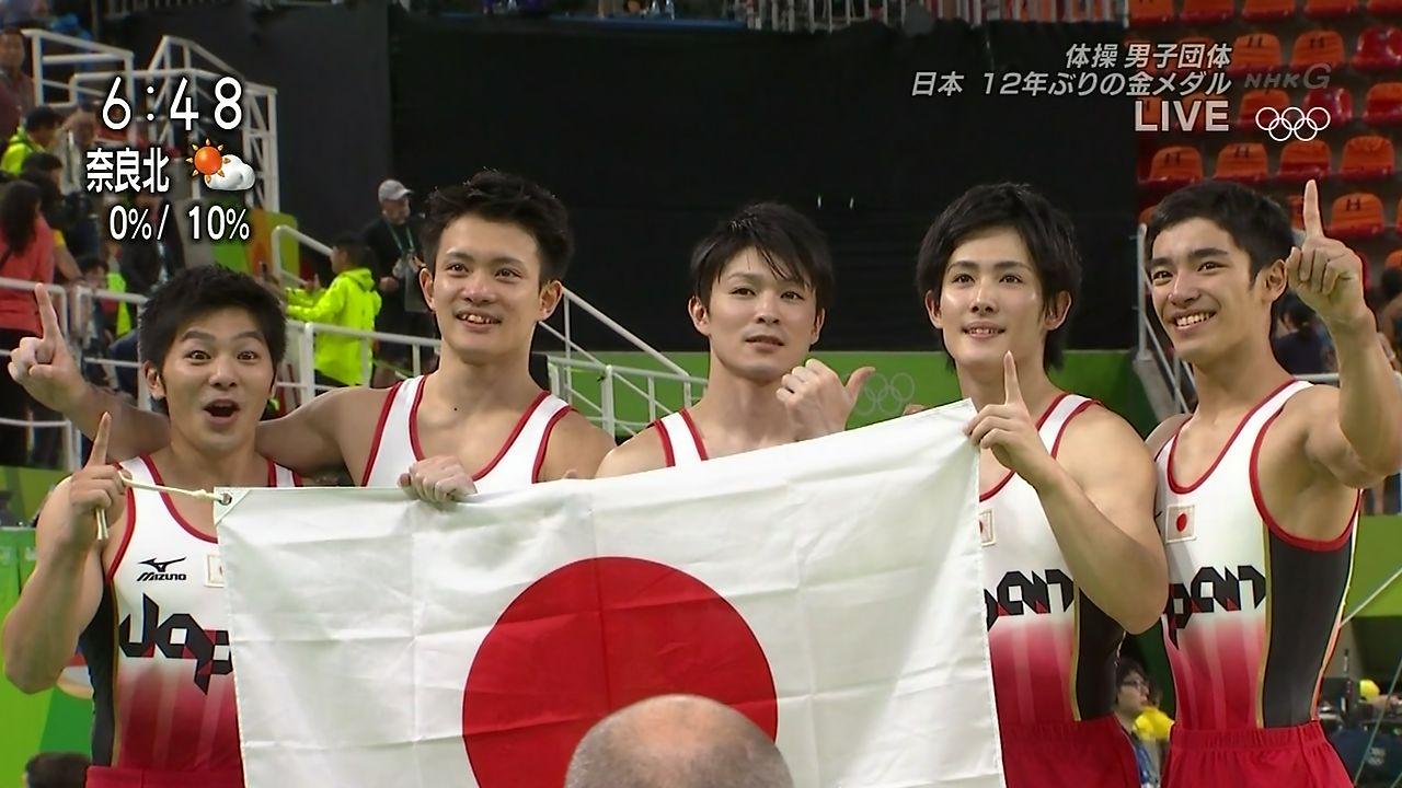リオオリンピックで金メダルをとった体操日本代表選手(内村航平、加藤凌平、田中佑典ら)