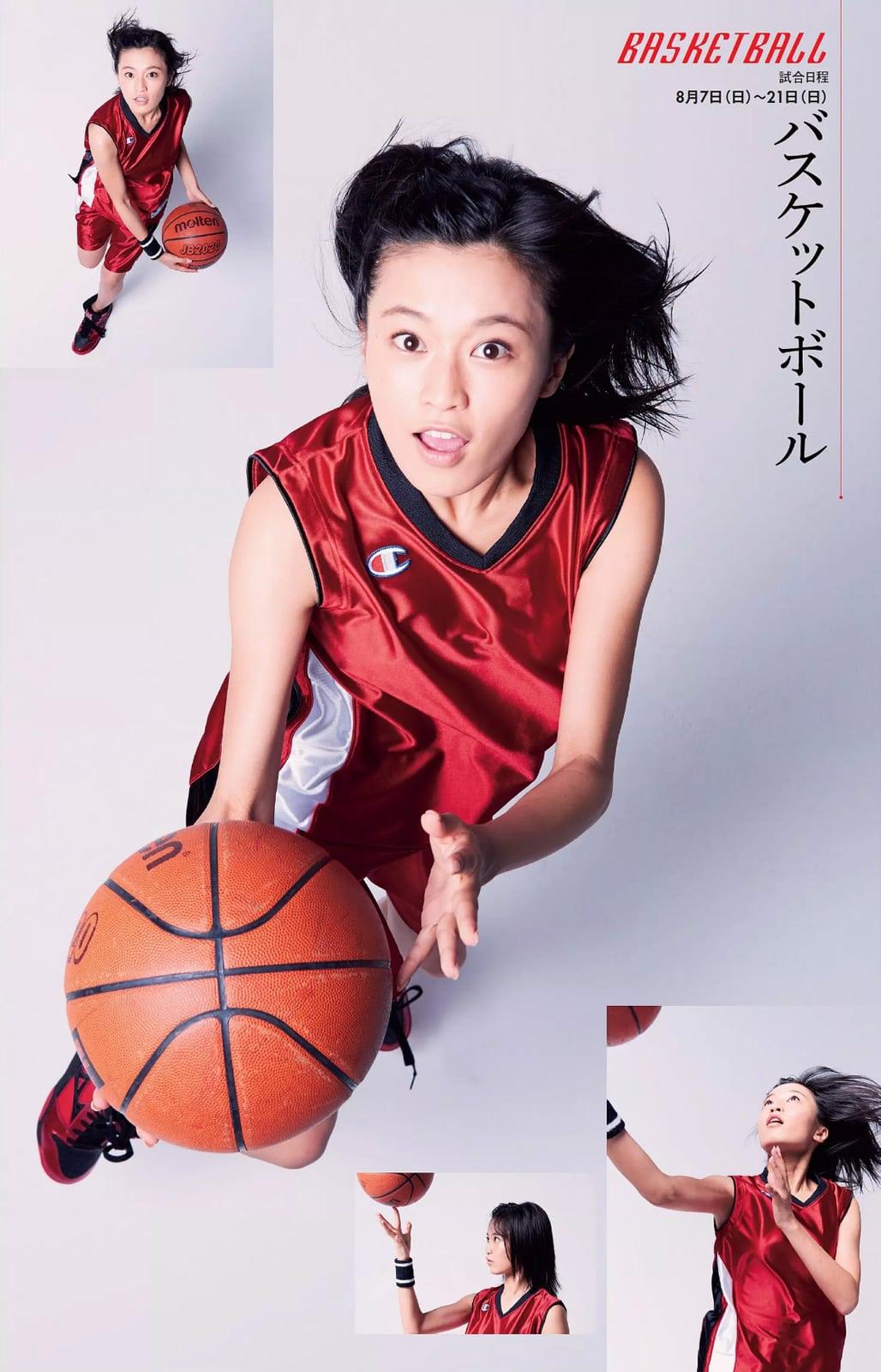 「週刊プレイボーイ 2016 No.33」小島瑠璃子のバスケットボールユニフォームグラビア