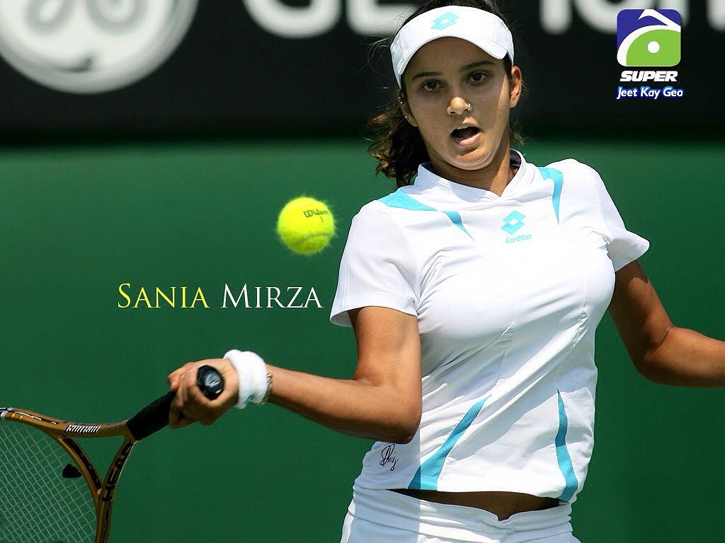 インドのテニス選手、サニア・ミルザの着衣巨乳