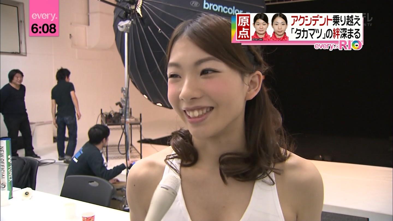 化粧をした松友美佐紀
