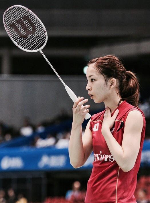 試合中の松友美佐紀