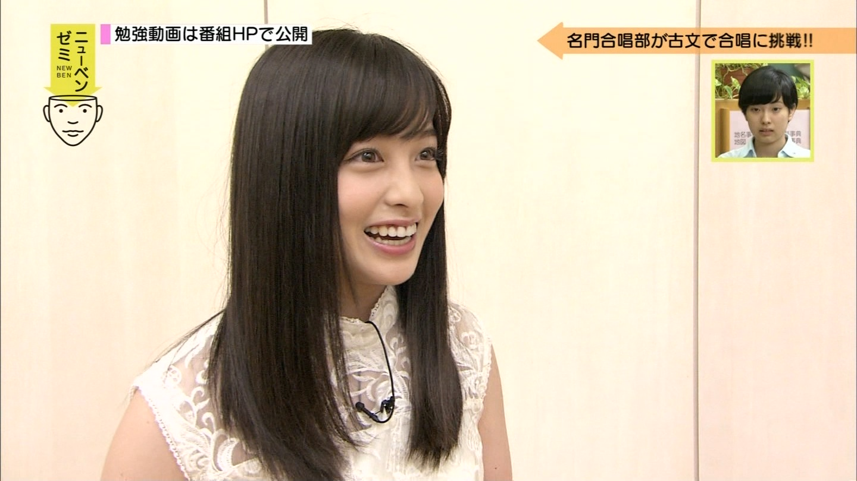 NHK Eテレ「テストの花道 ニューベンゼミ」に出演した橋本環奈の着衣巨乳