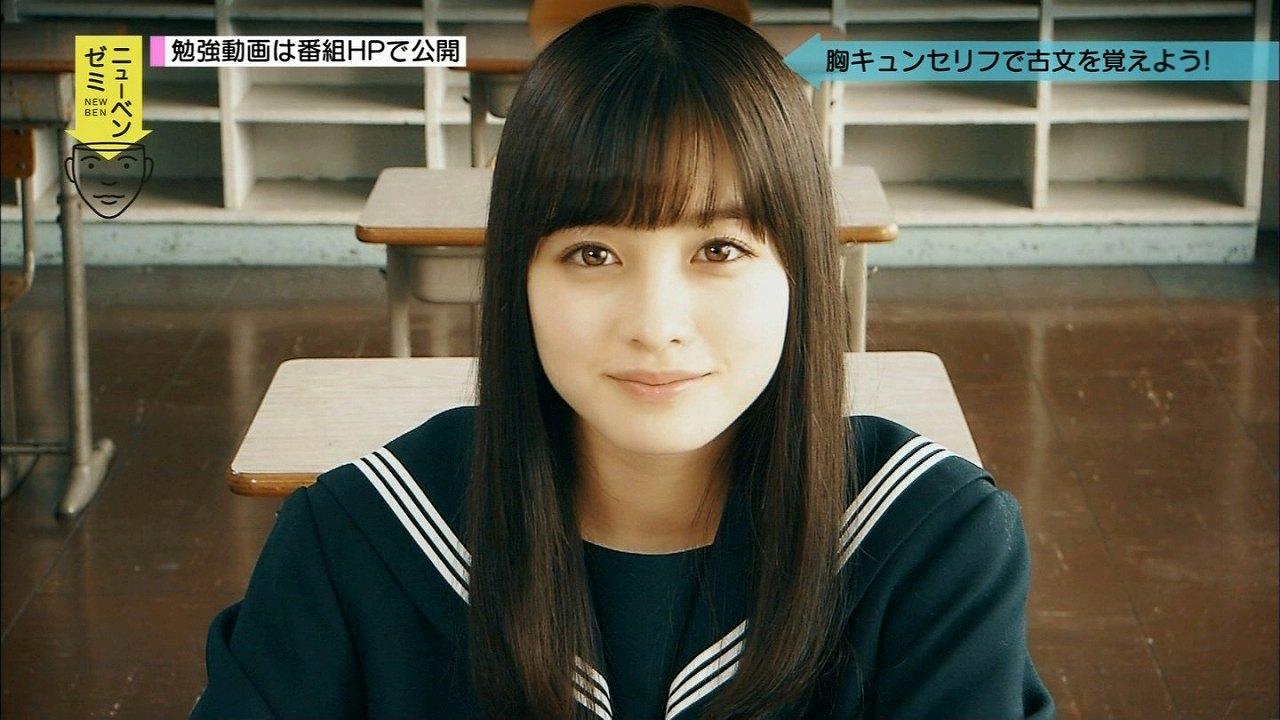 NHK Eテレ「テストの花道 ニューベンゼミ」でセーラー服を着た橋本環奈
