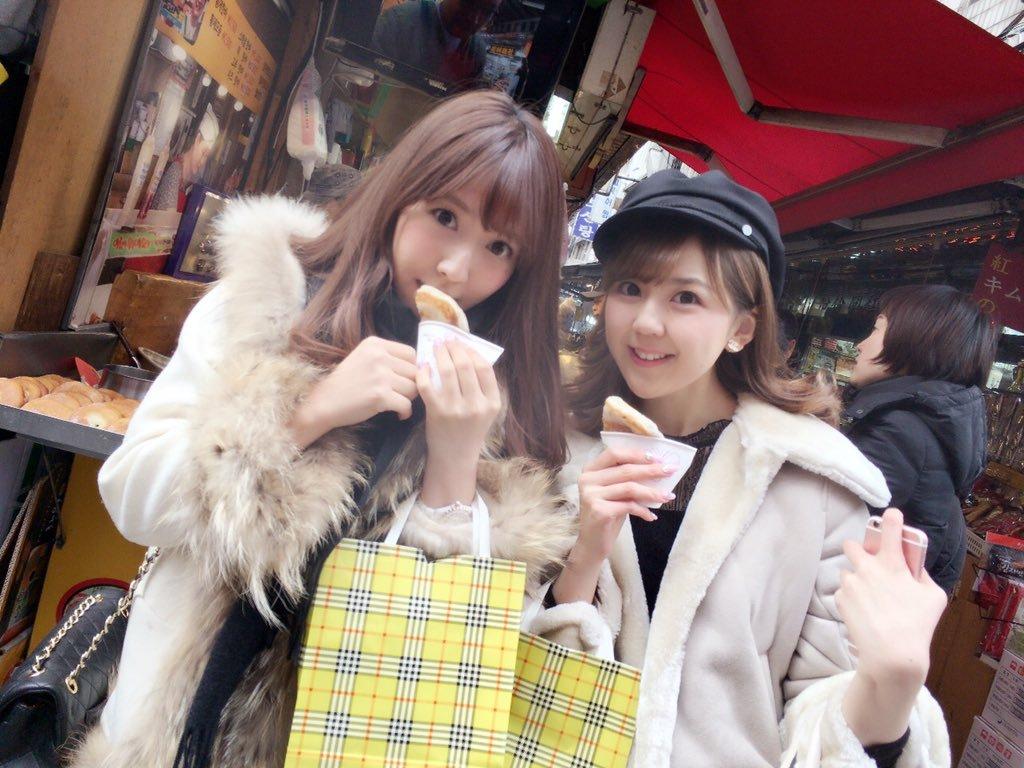 三上悠亜と大和里菜のツーショット