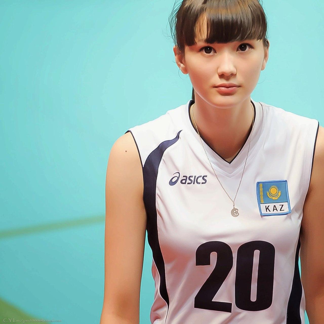 カザフスタン女子バレーのサビーナ・アルティンベコワ選手