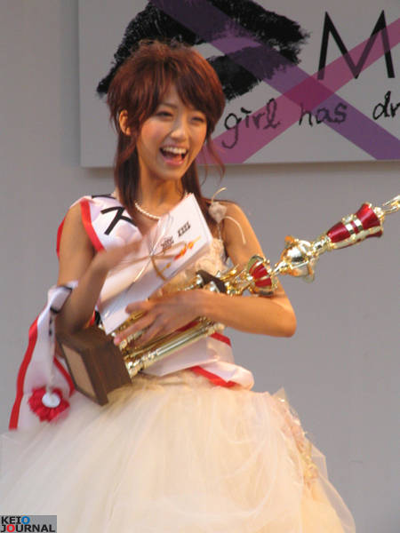 2006年にミス慶應に選出された時の竹内由恵