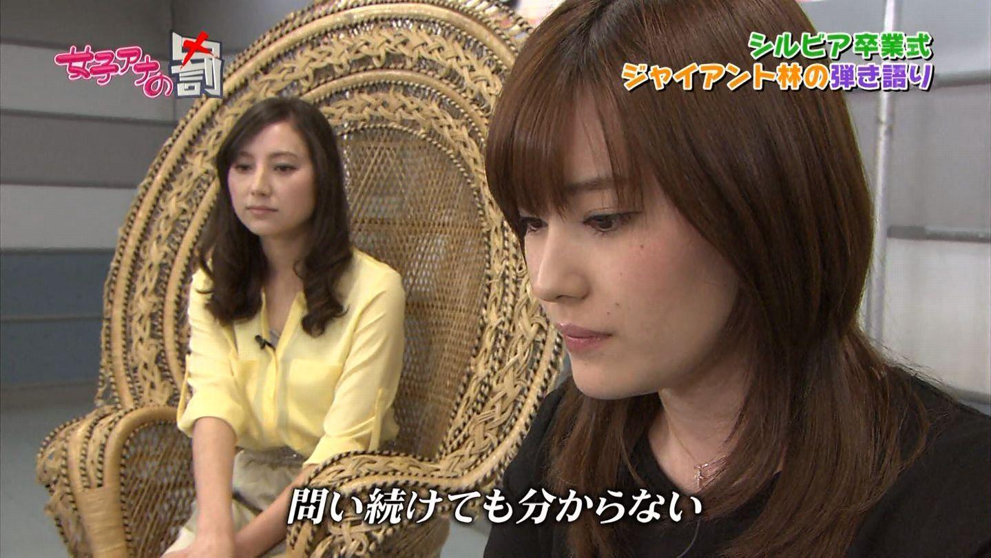 TBS「女子アナの罰」の加藤シルビアと林みなほ