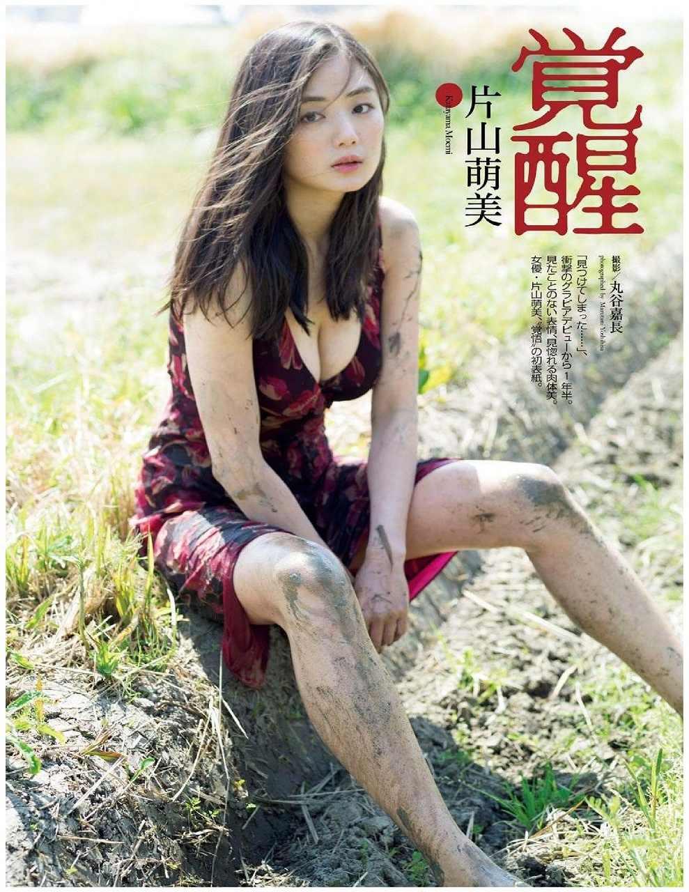 「週刊プレイボーイ 2016年 6/20 号」片山萌美のおっぱい谷間グラビア