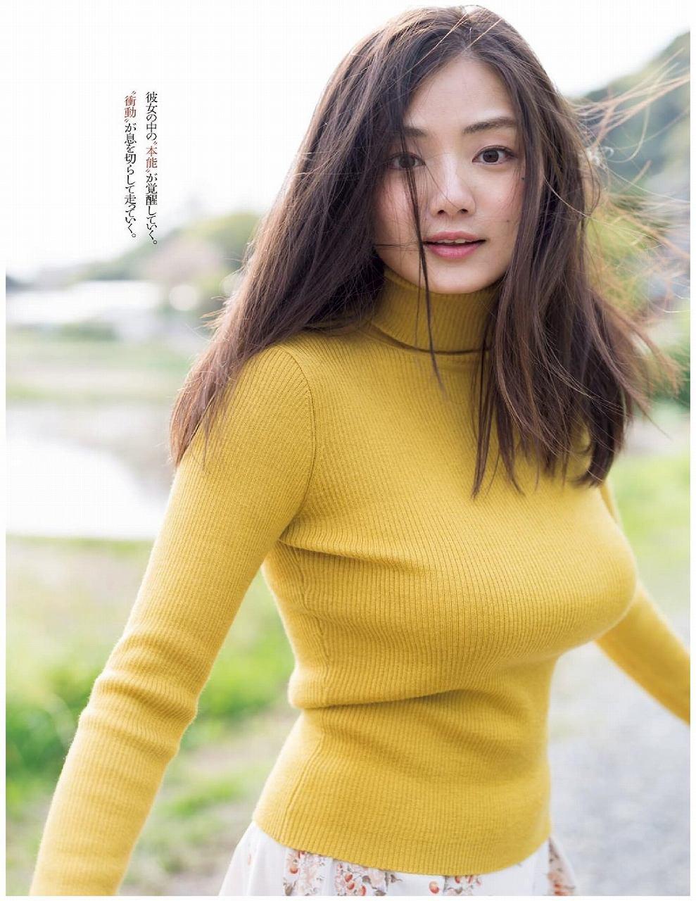 「週刊プレイボーイ 2016年 6/20 号」片山萌美のニット着衣巨乳グラビア