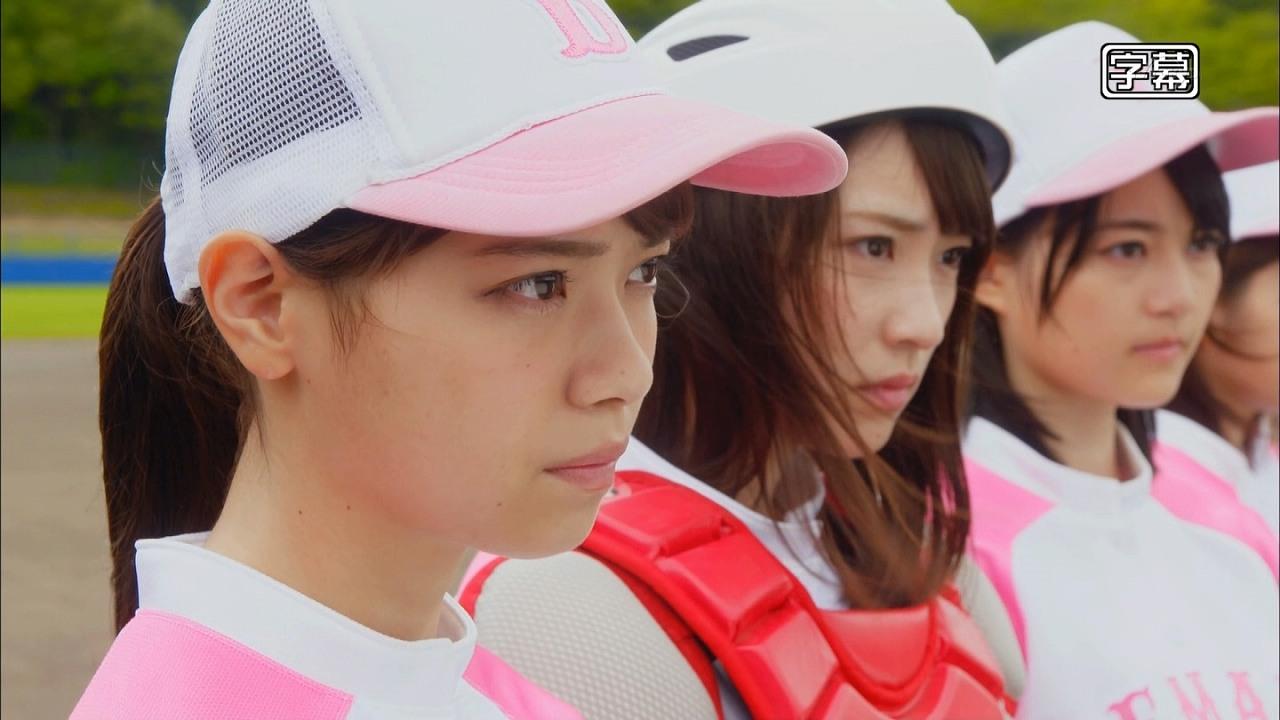 ドラマ「初森ベマーズ」でソフトボールをする乃木坂46メンバー