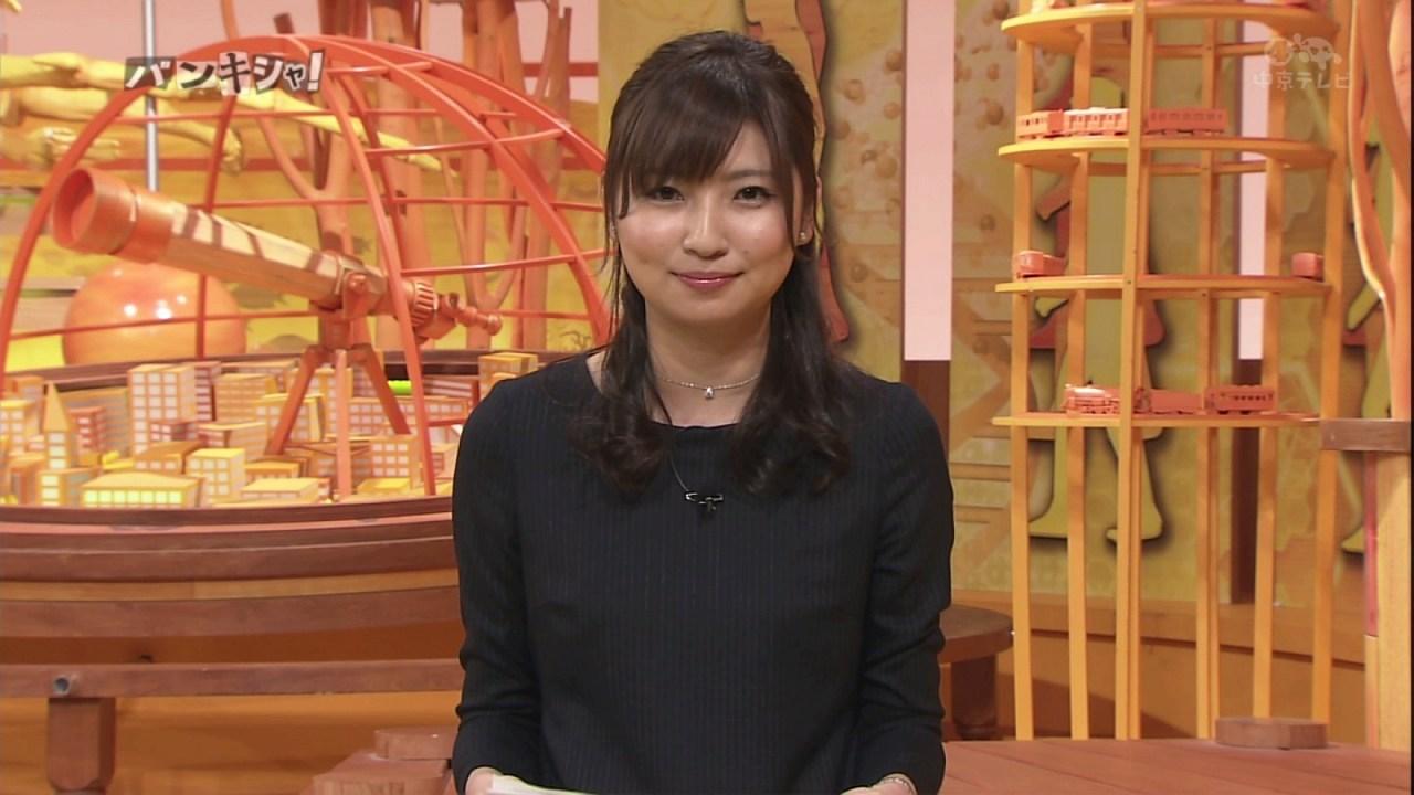 日テレ「真相報道バンキシャ!」で黒ストッキングを履いた畑下由佳アナ