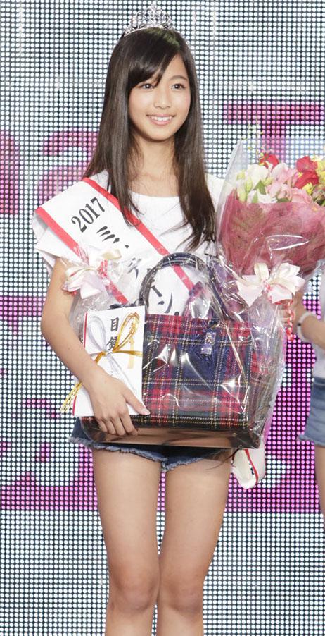2017ミス・ティーン・ジャパンでグランプリに輝いた糸瀬七葉さん(12)