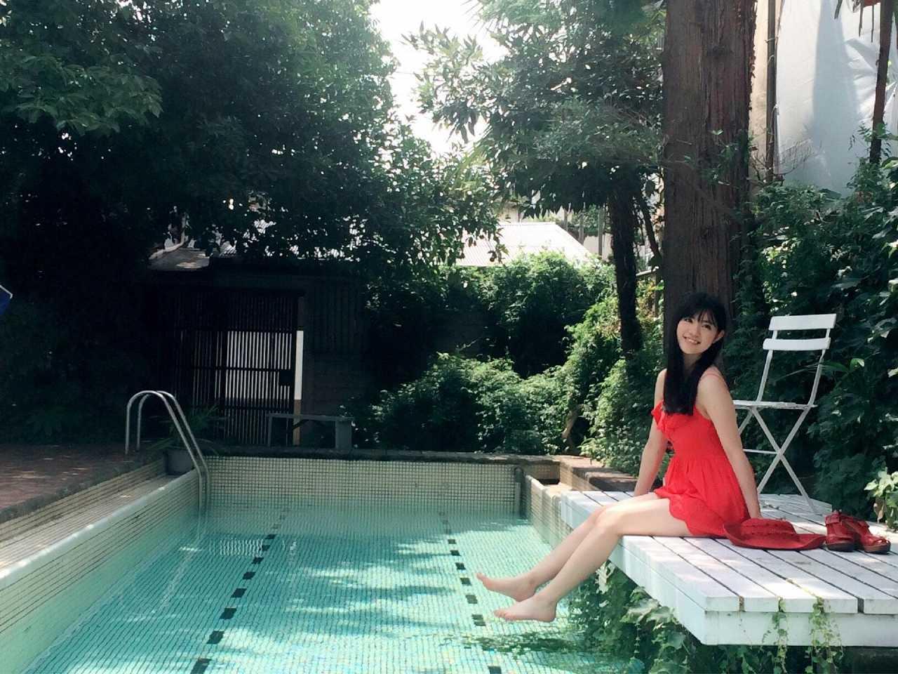 「ヤングアニマル 2016年 10/14 号」田中優香の水着グラビアオフショット