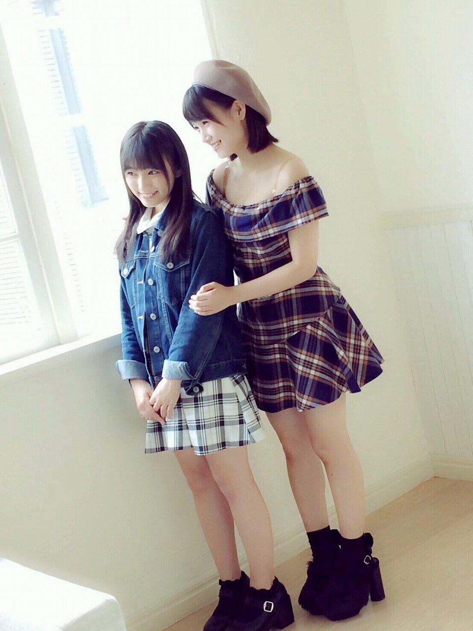 矢吹奈子と朝長美桜のツーショット