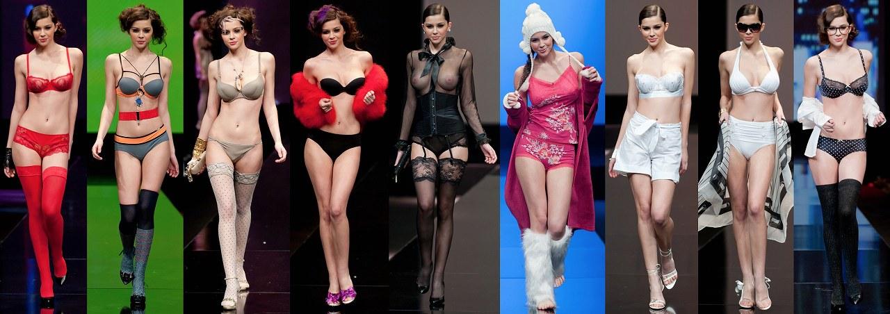 ファッションショーで下着や水着を着た巨乳モデルのMadalina Pica(マダリナ・ピカ)
