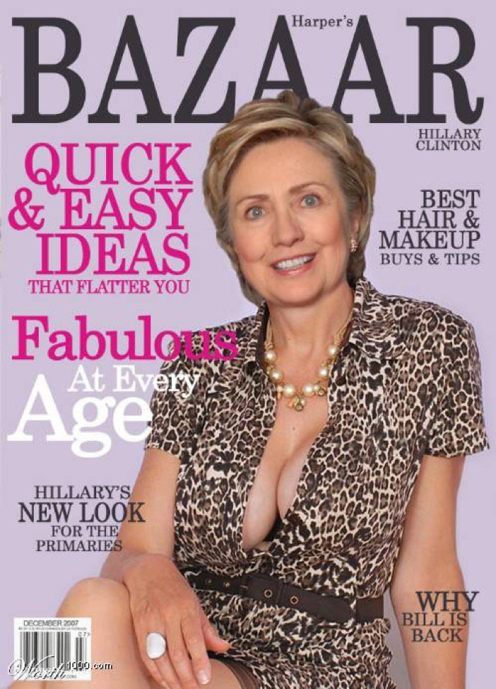 ヒラリー・クリントンのノーブラおっぱい