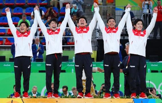 リオオリンピック体操男子団体金メダル
