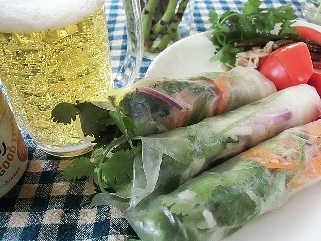 南方野菜の生春巻き