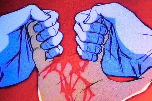 恐怖の指割き