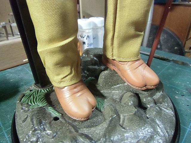 靴の色を変えました
