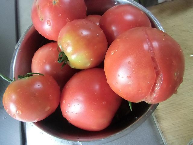 トマトの傷物