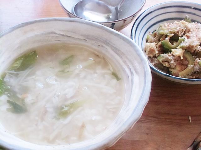 雑炊と玉とじ