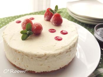 ケーキ(レアチーズ)02