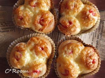 チーズハムパン1