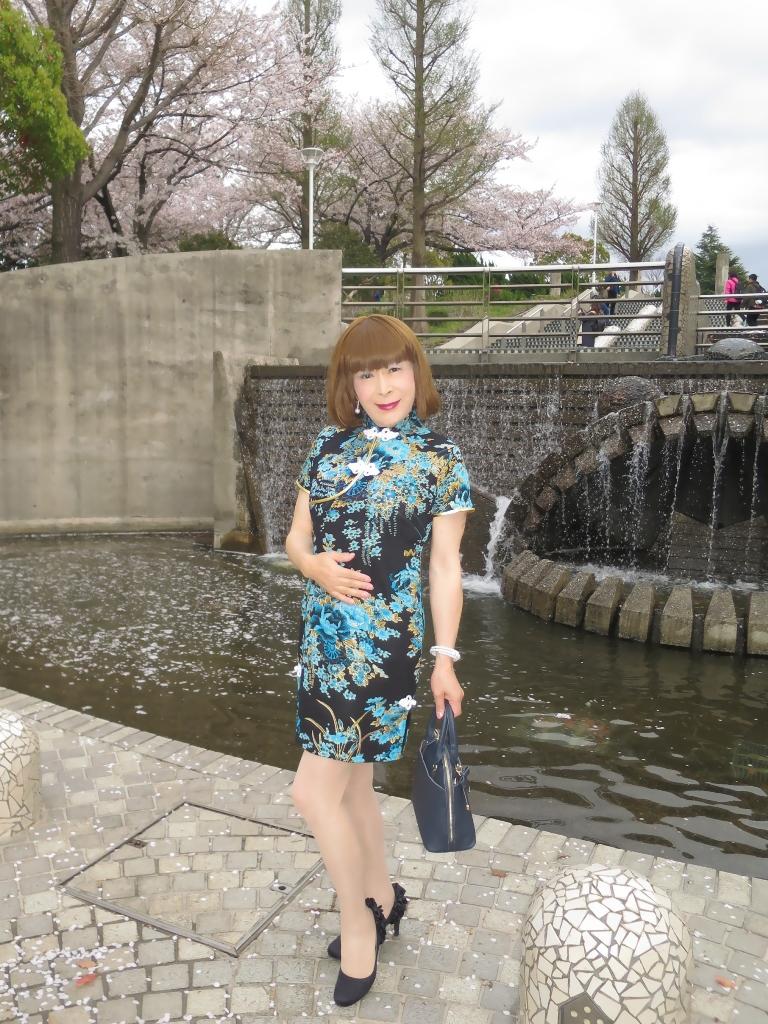 山下公園青チャイナ服A(3)