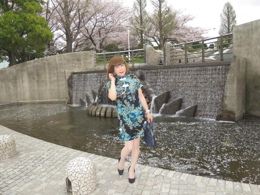 山下公園青チャイナ服A(5)