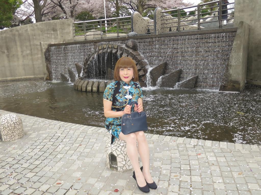 山下公園青チャイナ服A(7)