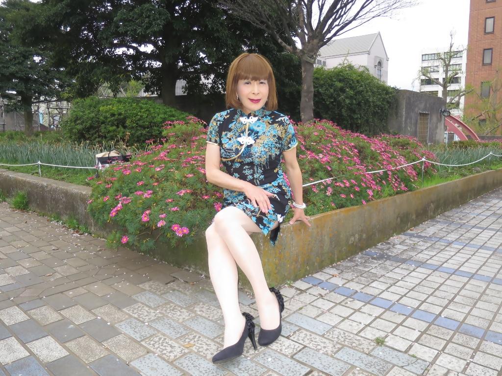 山下公園青チャイナ服E(6)