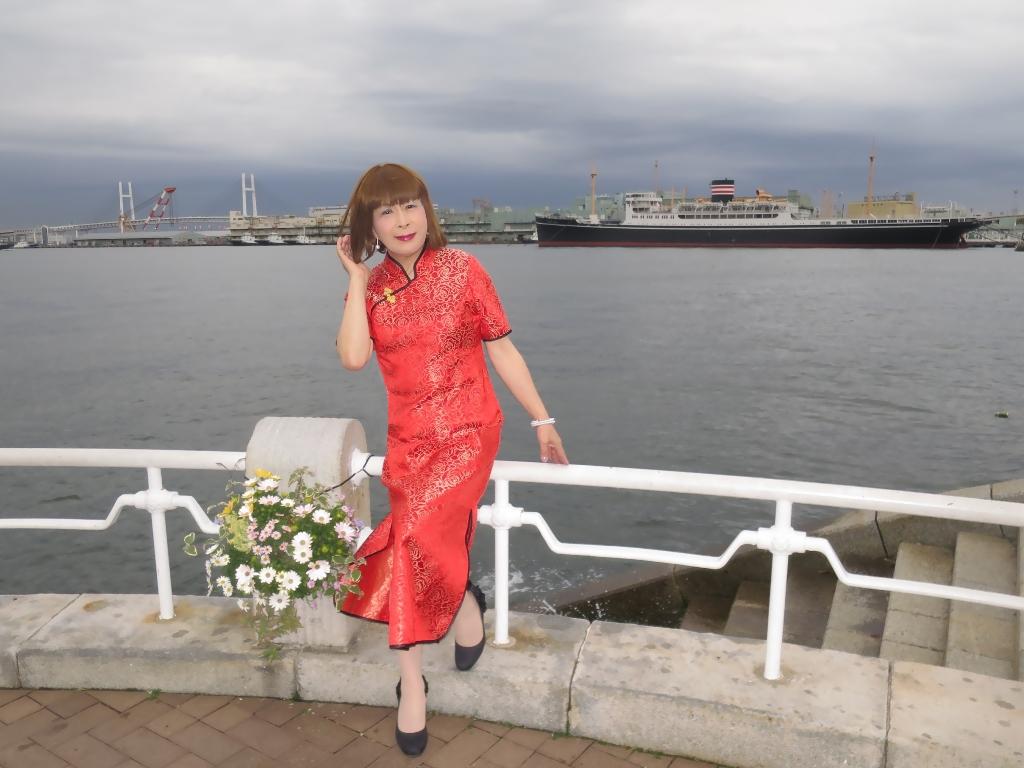 山下公園赤チャイナ服A(3)