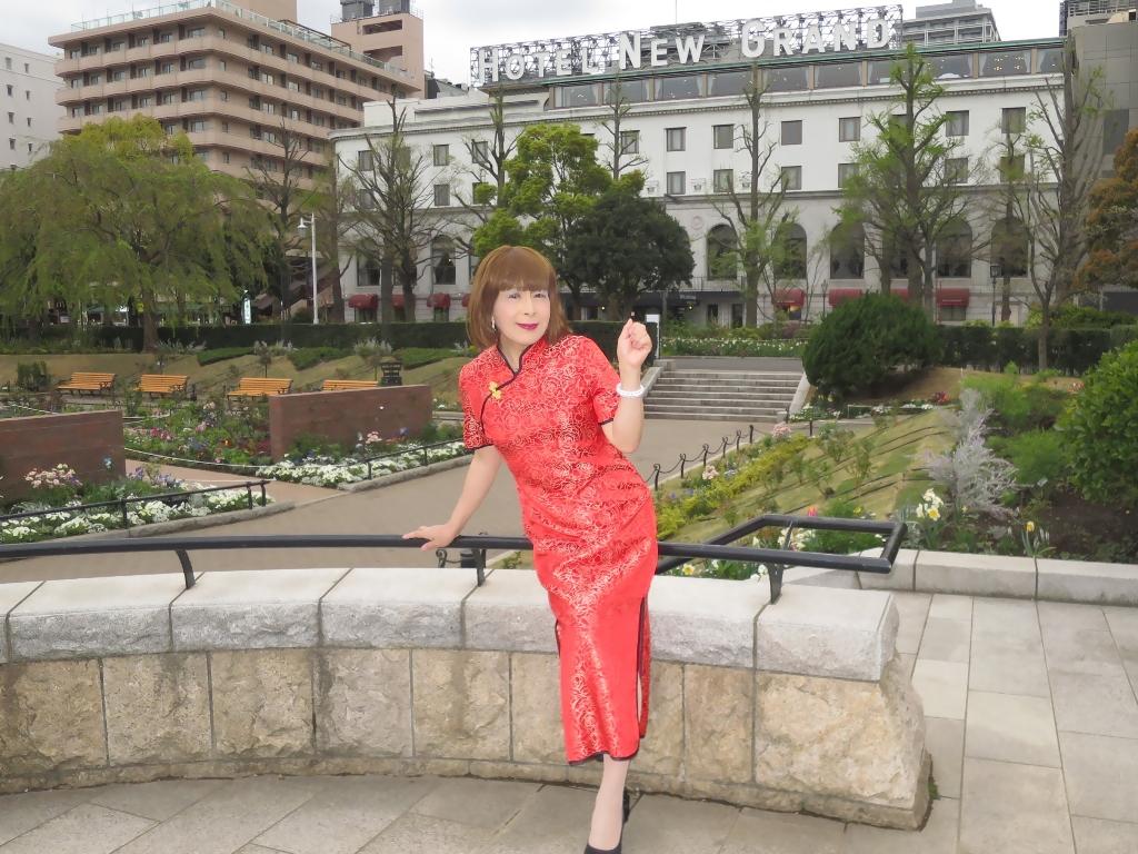 山下公園赤チャイナ服C(1)